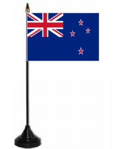 New Zealand Desk / Table Flag with plastic stand and base.